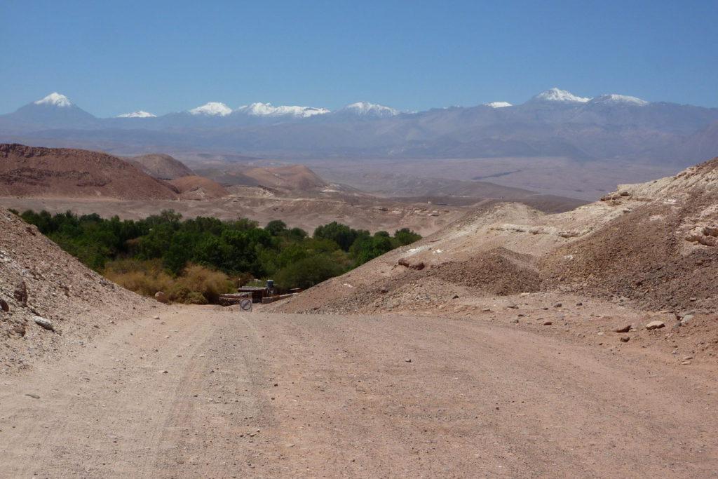 Quitor mit den Anden im Hintergrund