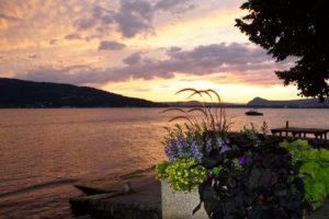 Abendstimmung am Lac d'Annecy