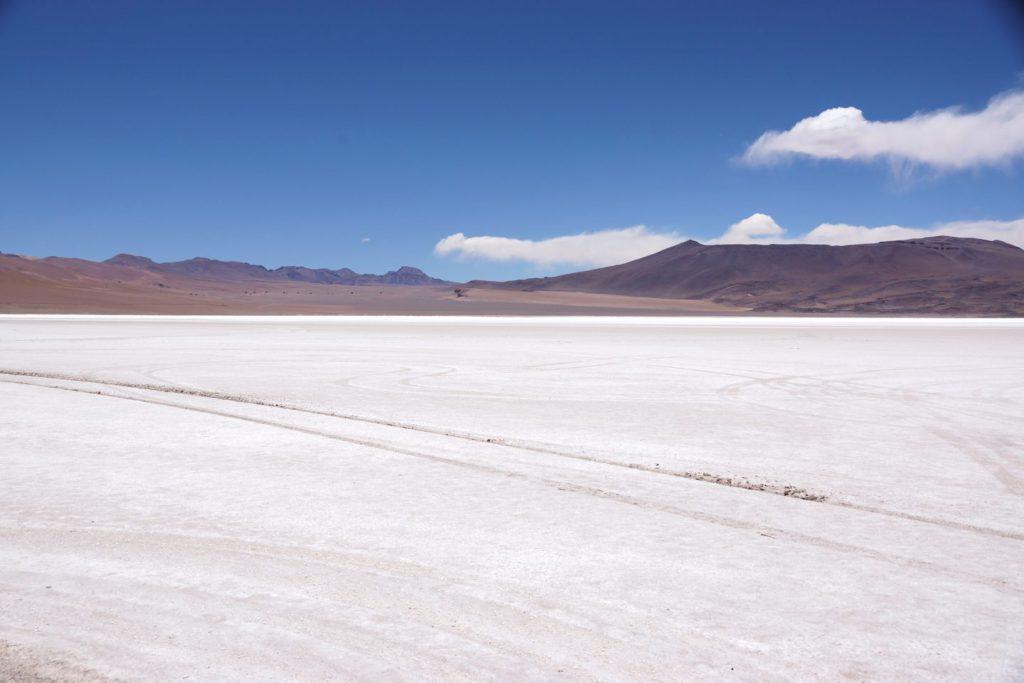 Salz im Salar de Aguas Calientes
