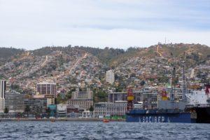 Valparaiso. Stadtansicht vom Hafen aus