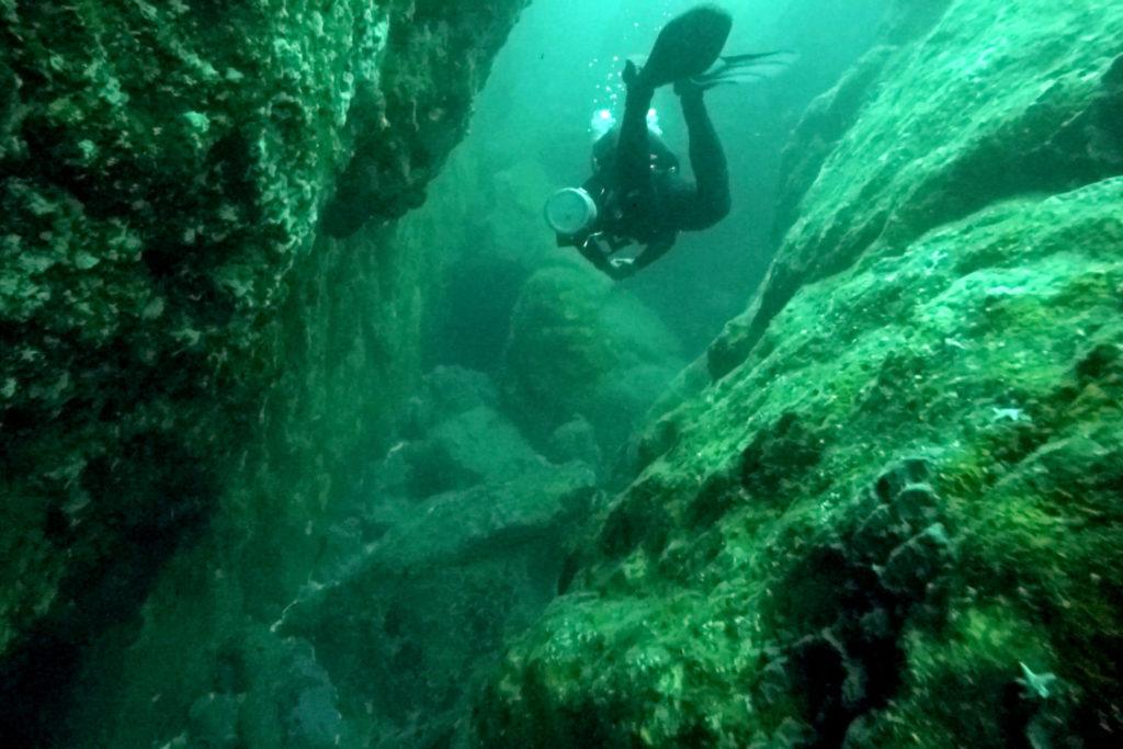 Unterwasserlandschaft in Pichidangui