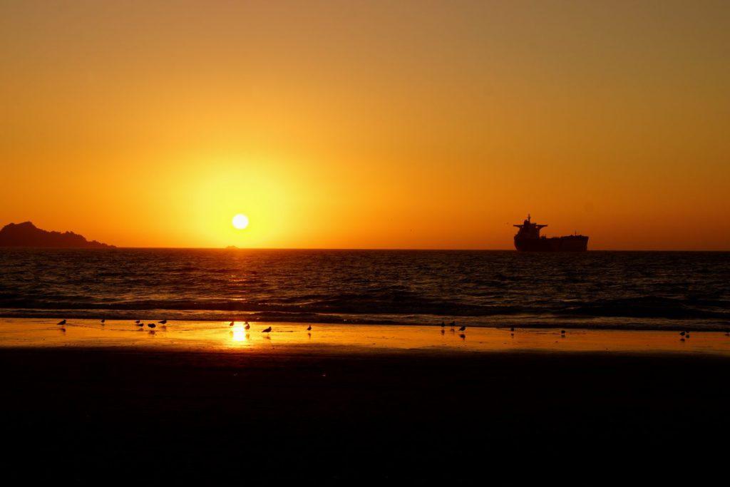 Sonnenuntergang in Coquimbo