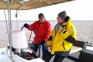 Dieter und Günter auf der Flybridge