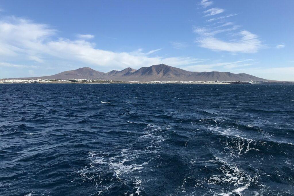 Blick zurück auf Lanzarote