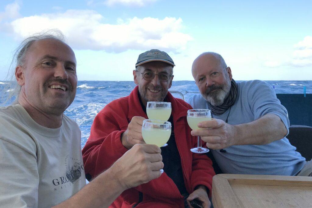 Margarita: Sundowner an Bord