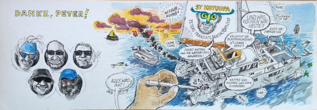 Das Bordleben auf Ketoupa (Zeichnung)
